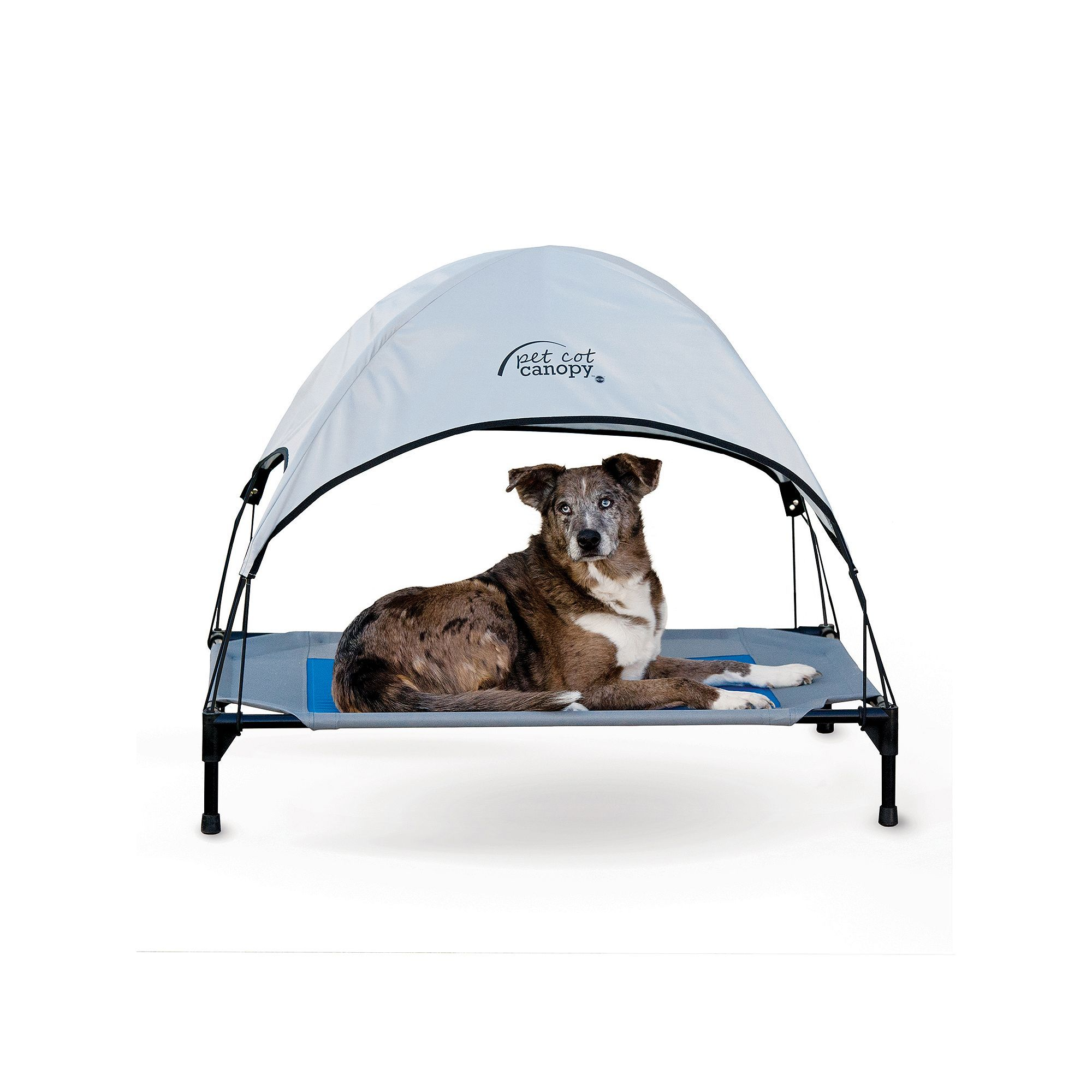 K&H Large Blue Pet Cot Canopy, Grey Cot canopy, Canopy