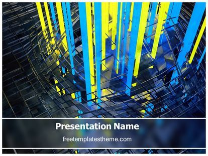 Abstract Powerpoint Template | Get This Free Metal Rays Abstract Powerpoint Template With
