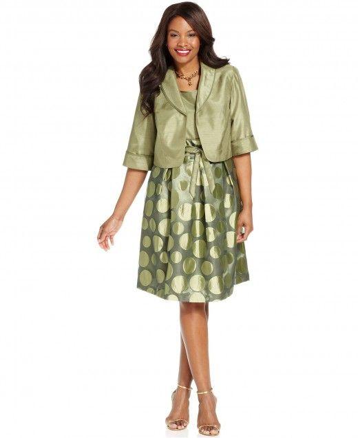 ba5058e3bed56 Le Bos Plus Size Dress and Jacket