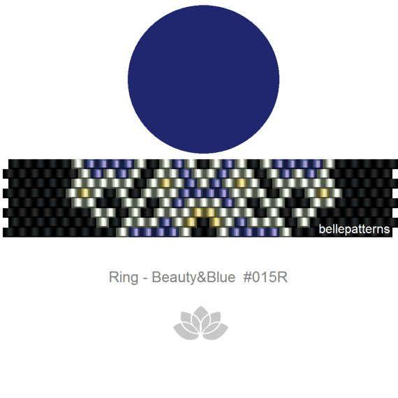 peyote ring patternPDF-Download 015R beaded ring pattern