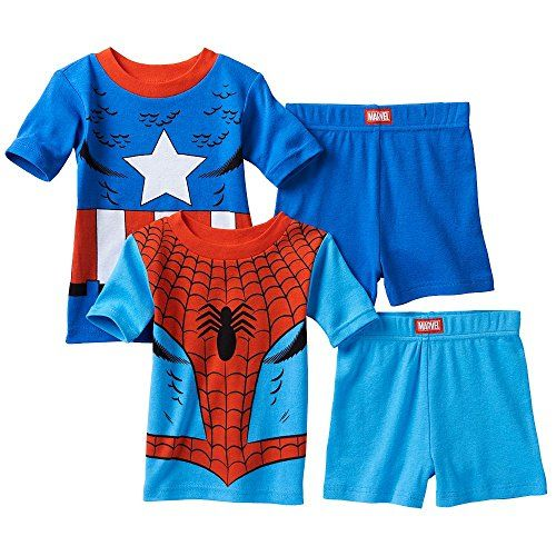 Spider-Man & Captain America Pajama Set - Toddler Boy (3T) @ niftywarehouse.com #NiftyWarehouse #Spiderman #Marvel #ComicBooks #TheAvengers #Avengers #Comics
