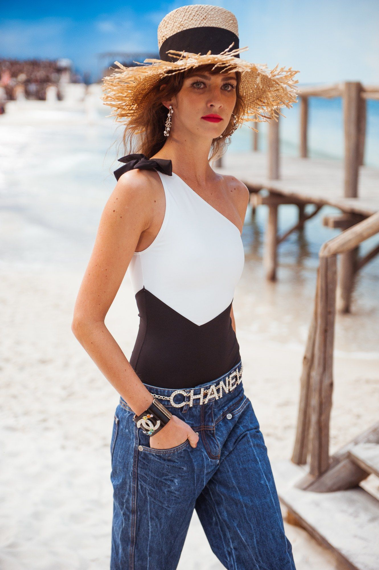 b6ef40801238 Chanel Brought the Beach to Paris for its Spring 2019 Show