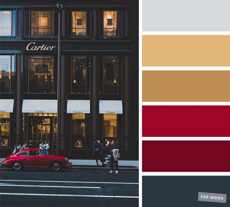 Grey Gold And Red Color Scheme Red Color Schemes Grey Color Scheme Grey Color Palette