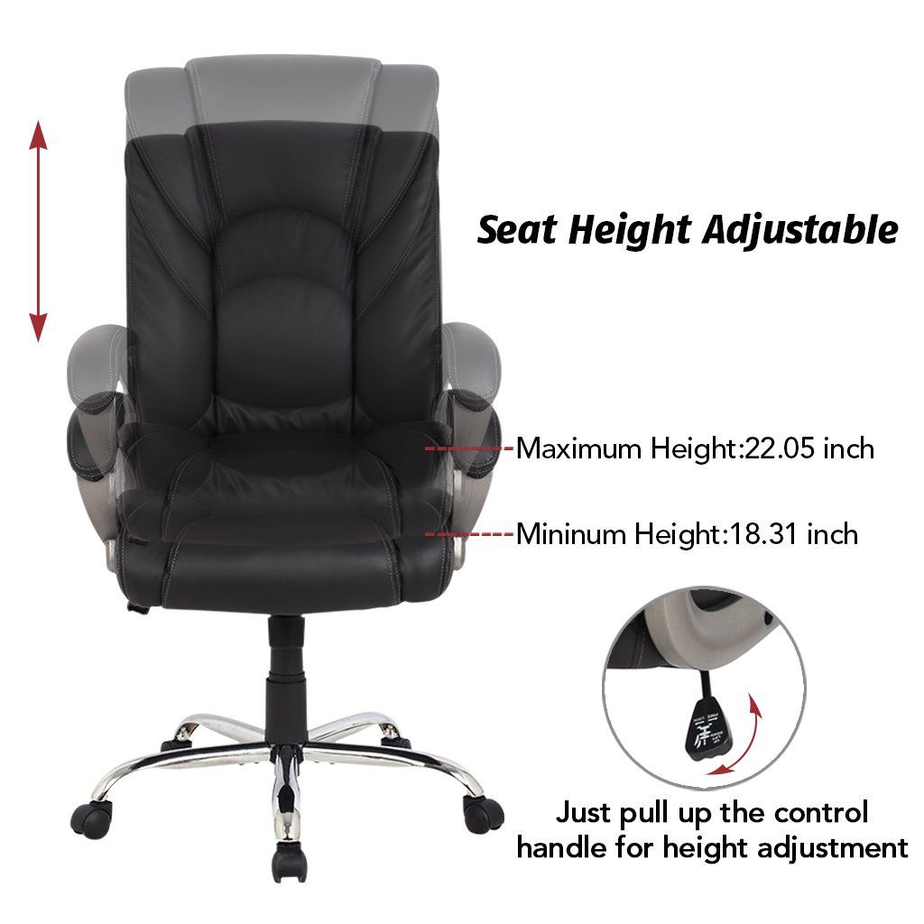 Viva office swivel office chair black pu leather ueueue click on the