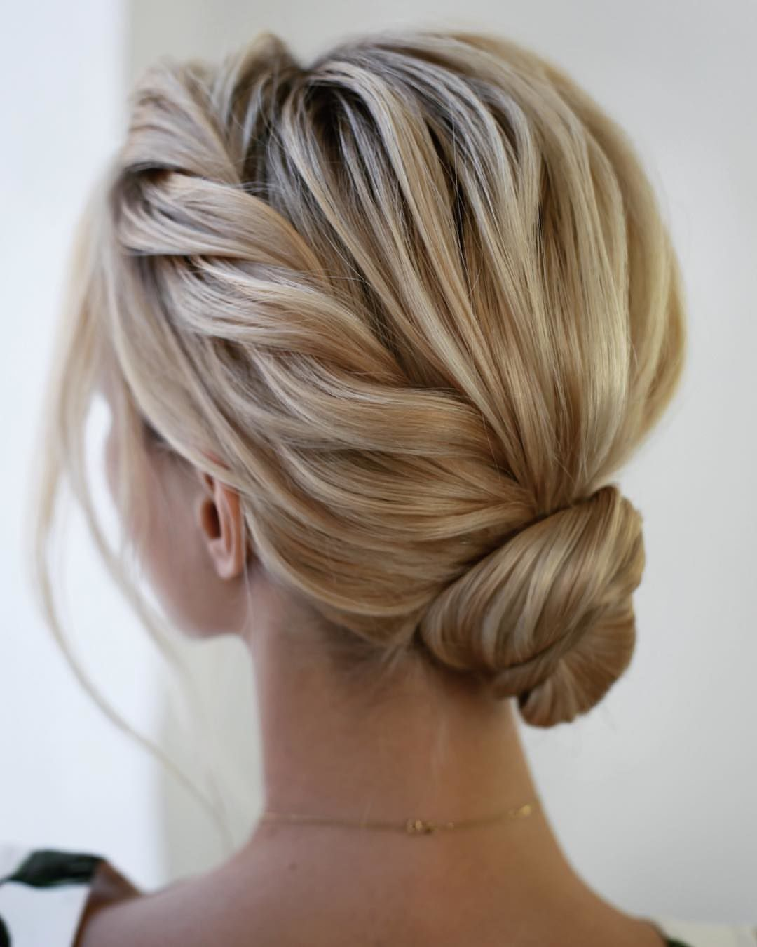 Low Bun Side Braid Short Hair Updo Prom Hairstyles For Short Hair Homecoming Hairstyles