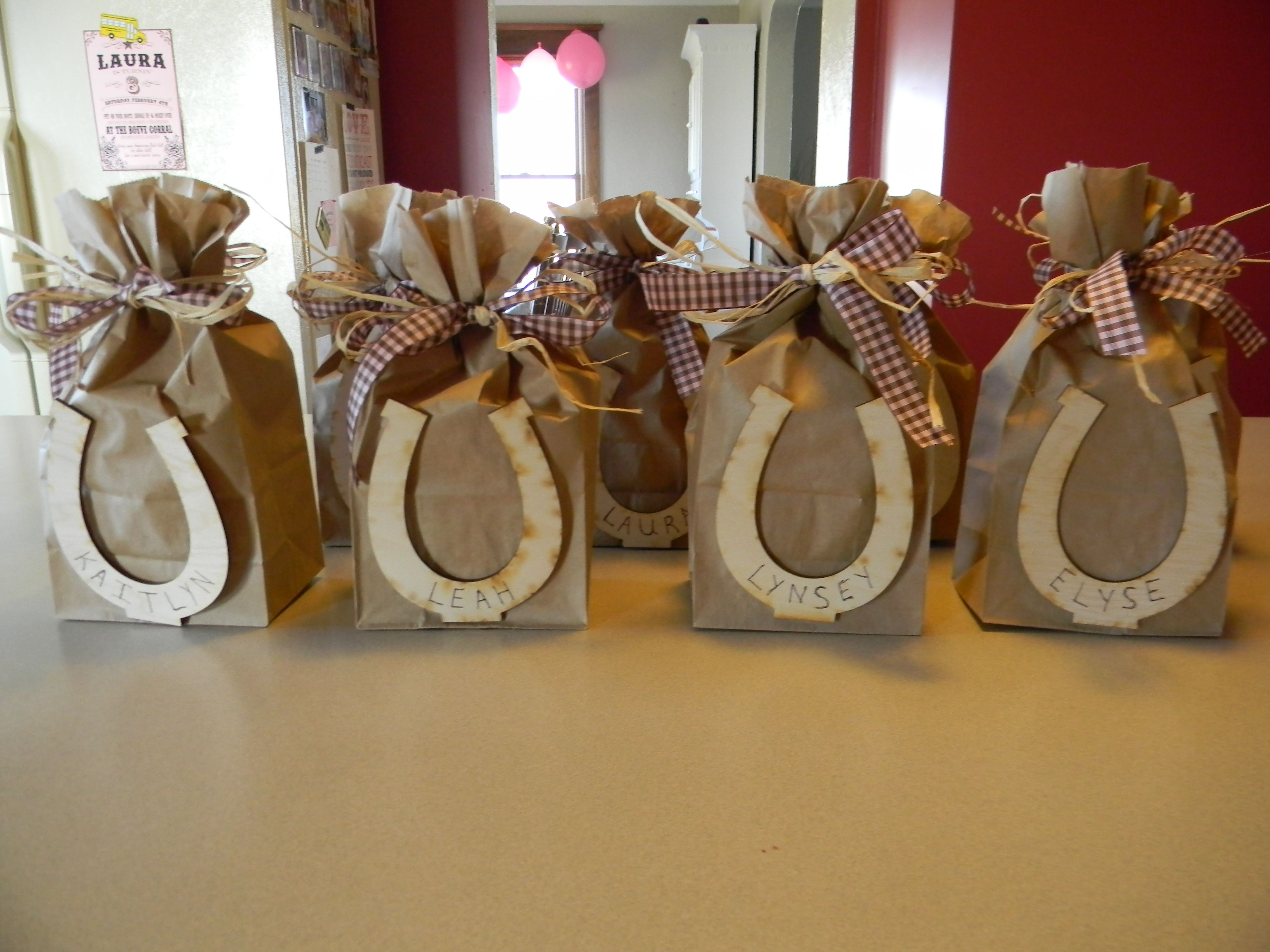 Debbie Thomas - this reminded me of you. Cowgirl party favor bags ... 56328c2a3fa2
