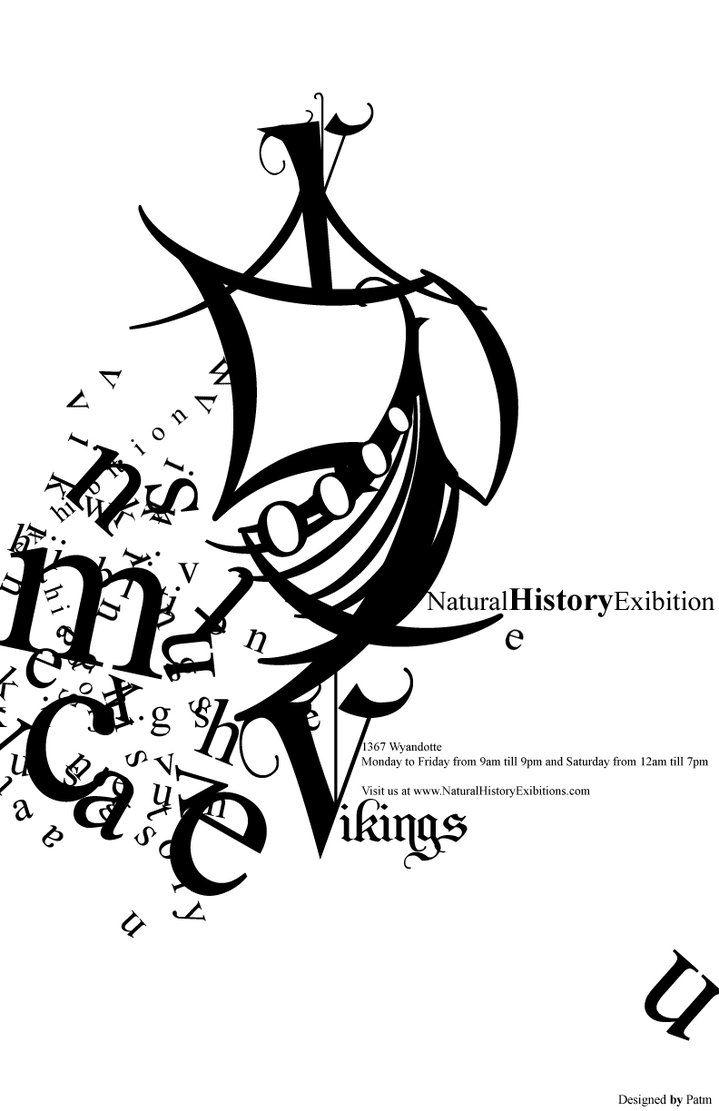 Vikings poster by ~rodmen (type poster design)  #GR617-OL2-FA12 #GreatDesign #Mod10 #pin2