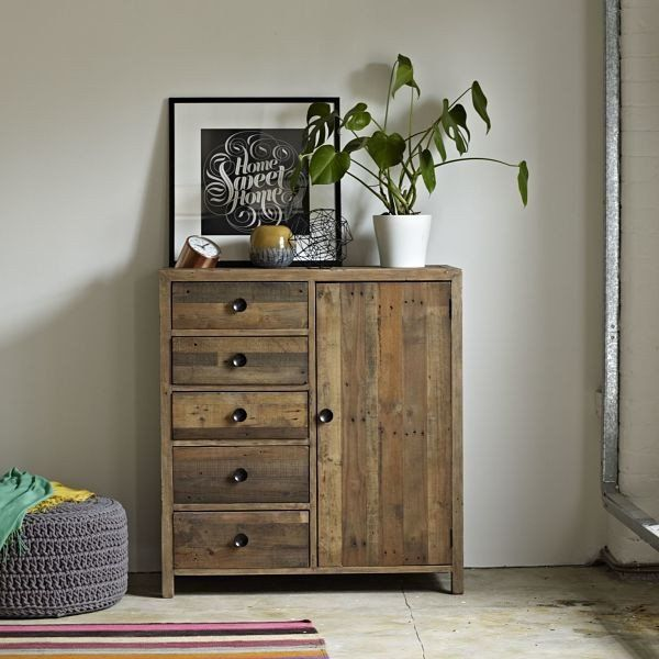 Standford Reclaimed Wood Century Chest  - Modish Living Industrial Look