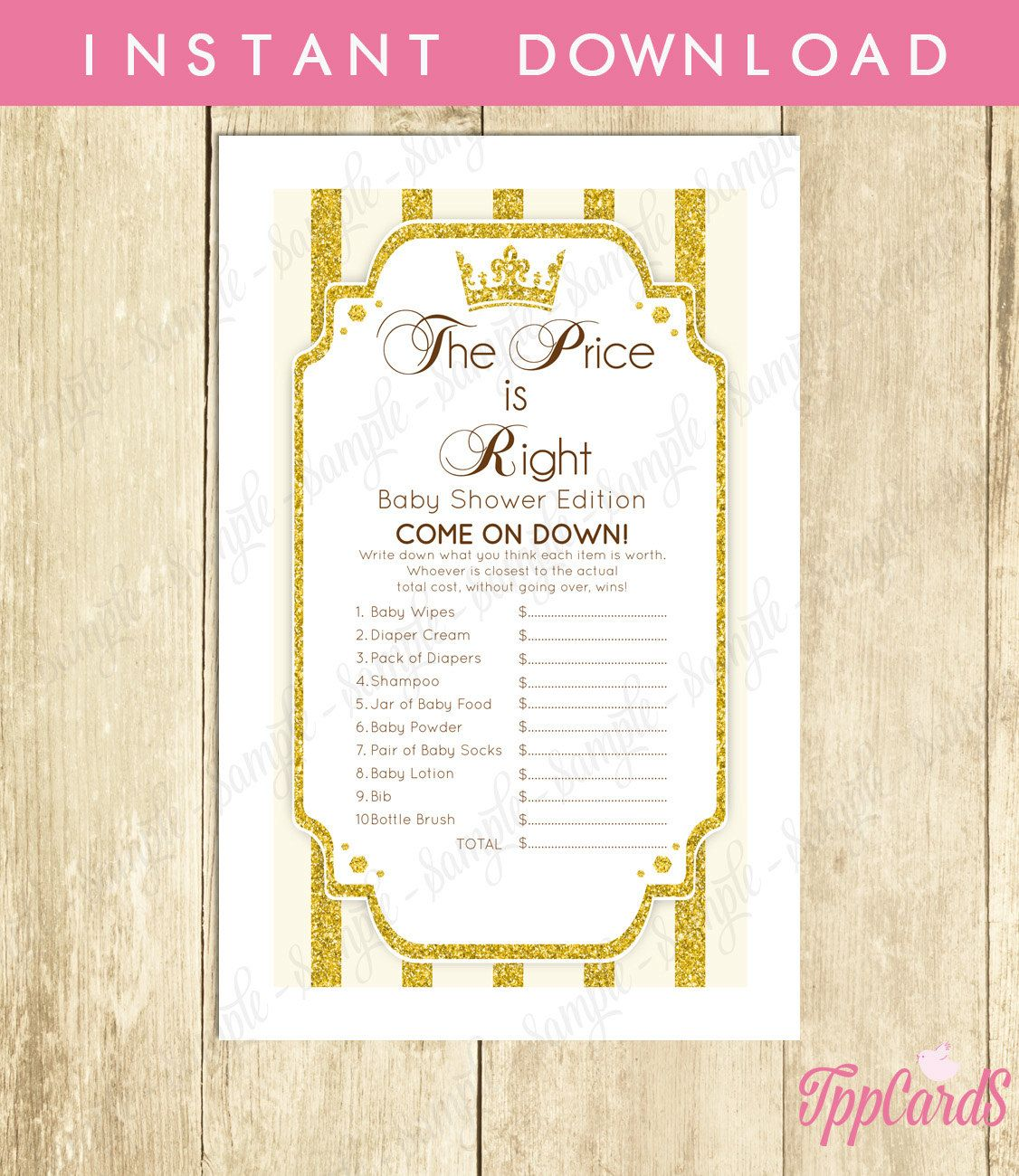 New to TppCardS on Etsy Instant Download Gold Royal