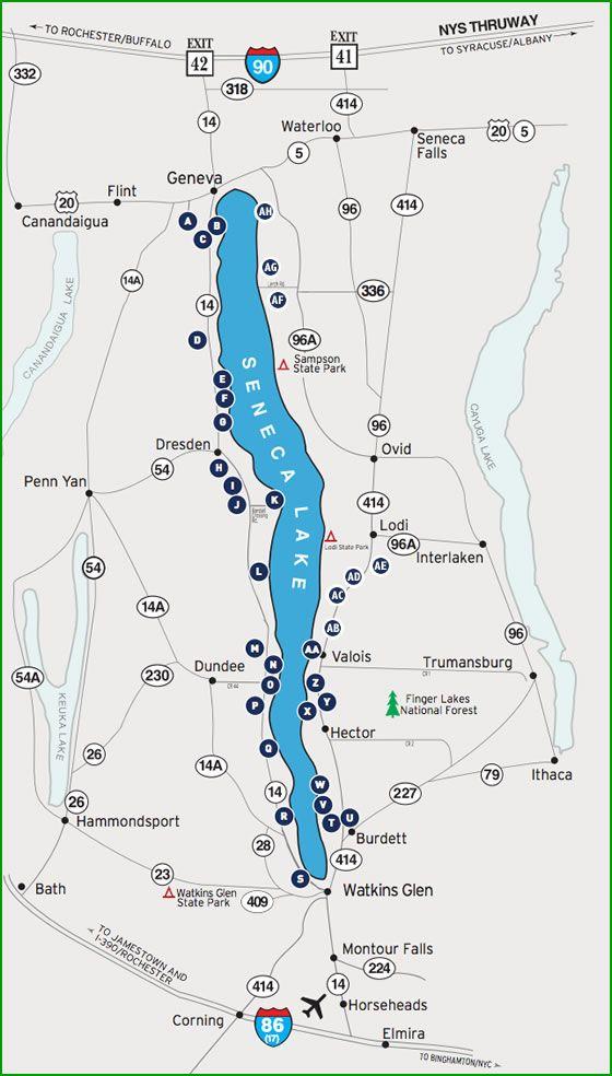 map of seneca lake Seneca Lake Wine Trail Map Seneca Lake Wine Trail Finger Lakes Ny map of seneca lake