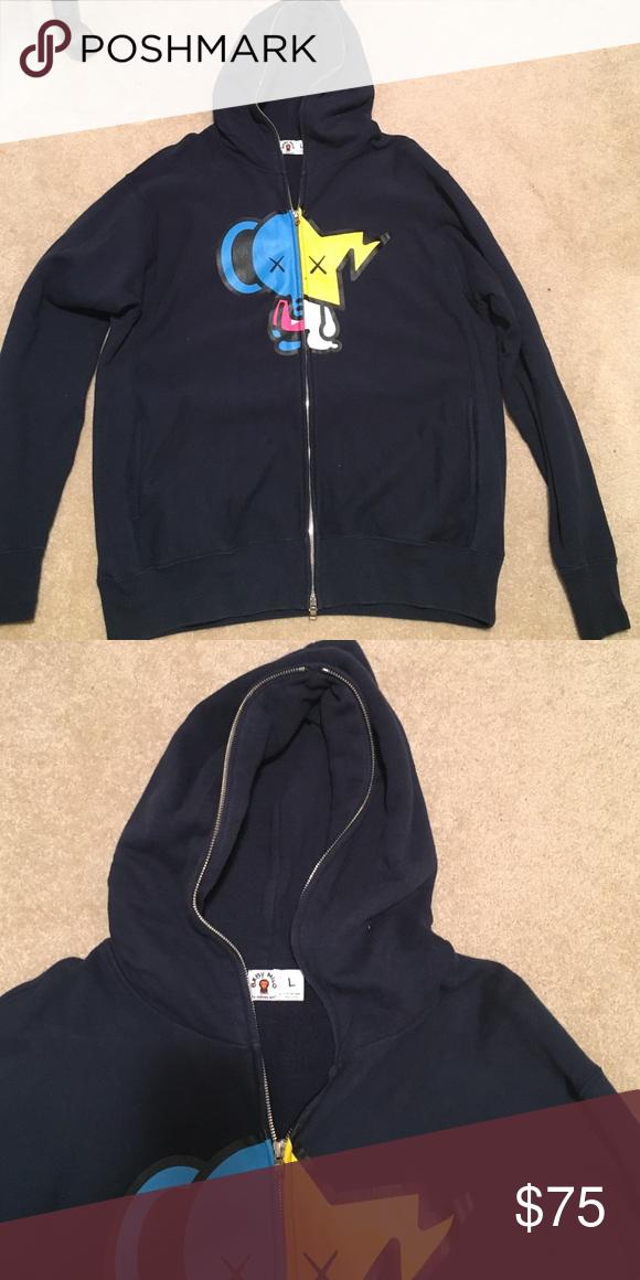d7a3089b Bape Baby Milo Hoodie Vintage Bape hoodie 100% cotton Bape Sweaters Zip Up