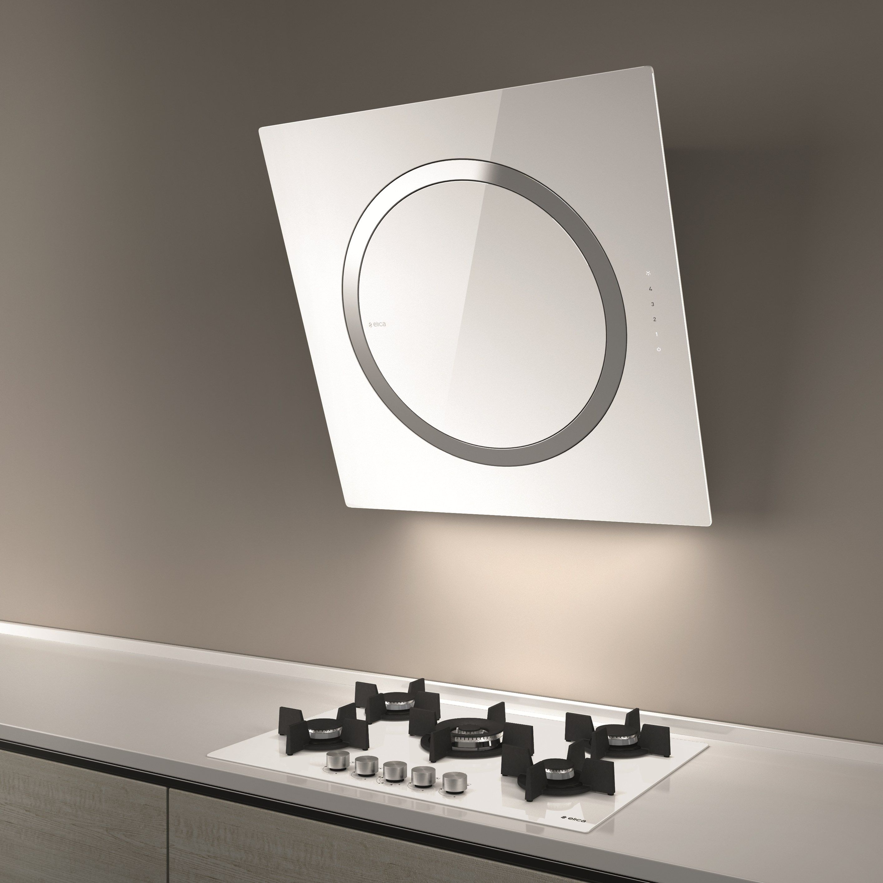 Wall Mounted Cooker Hood Om Om Collection By Elica Design Elica Design Center Cooker Hoods Round Mirror Bathroom Lighted Bathroom Mirror