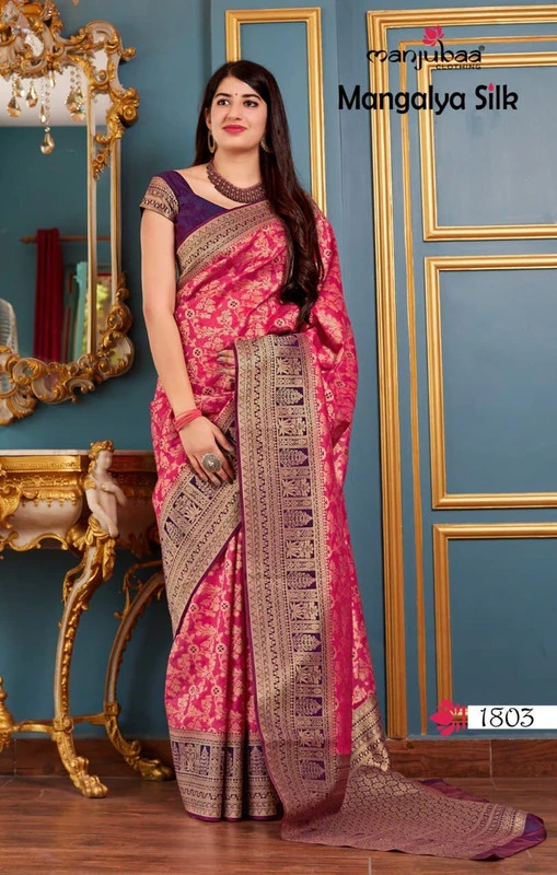 New Free Shipping Party Silk Weaving Saree Traditional Wedding Bridal Casual Wear Sari With Blouse Piece