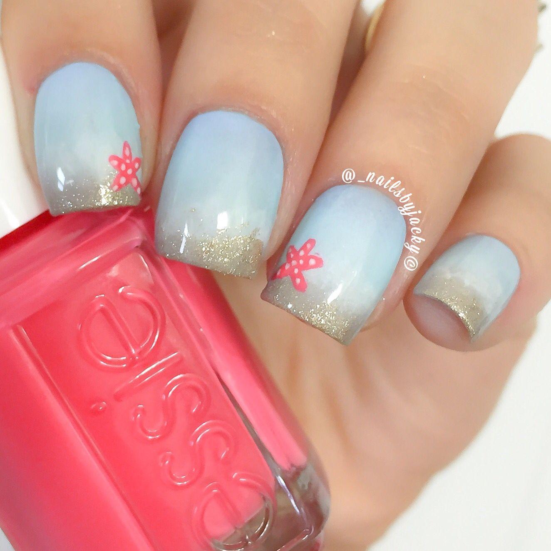 beach inspired nails