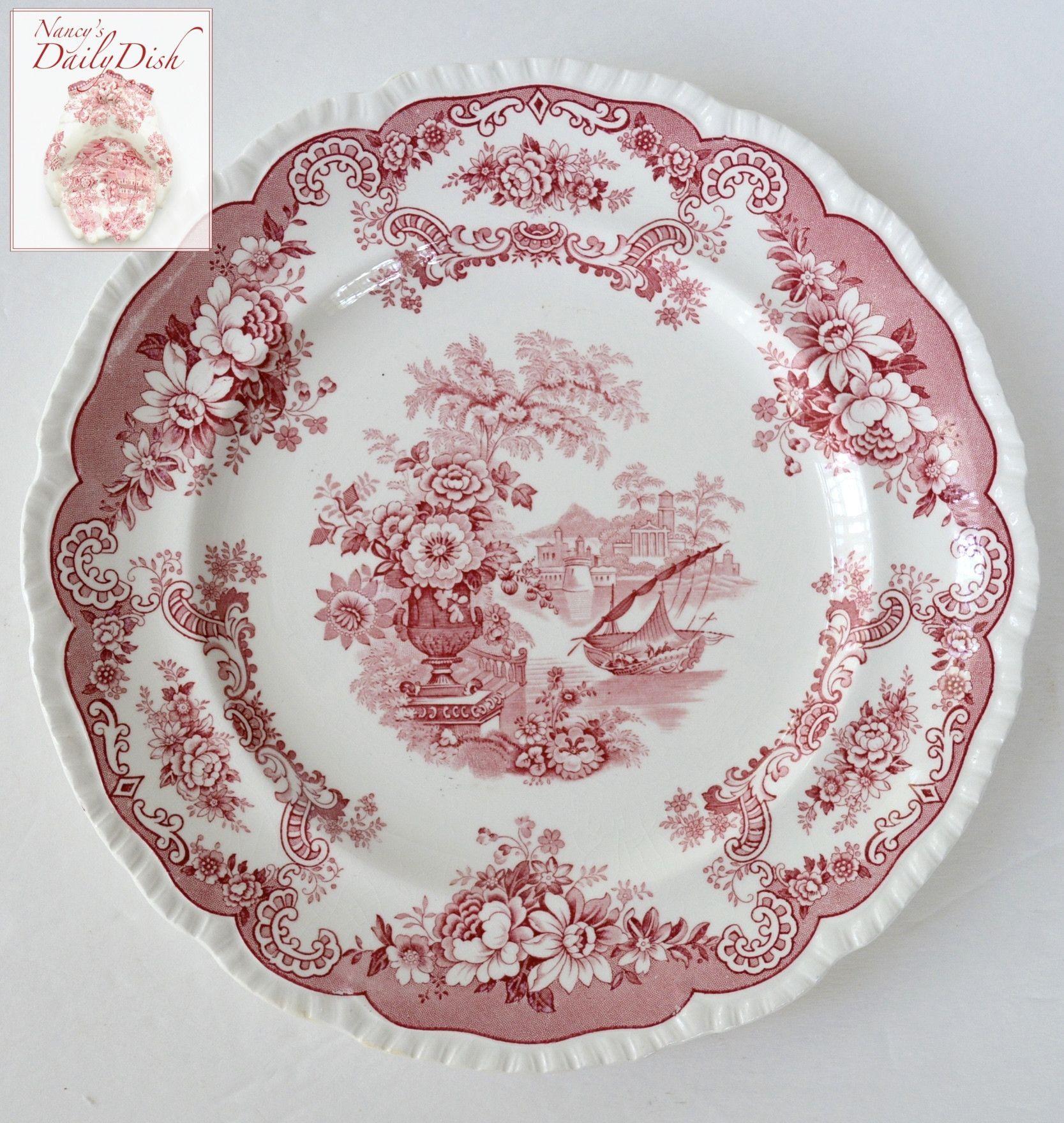 Fine Porcelain Transferware Plate Bird /& Floral Design Very Nice Display Piece