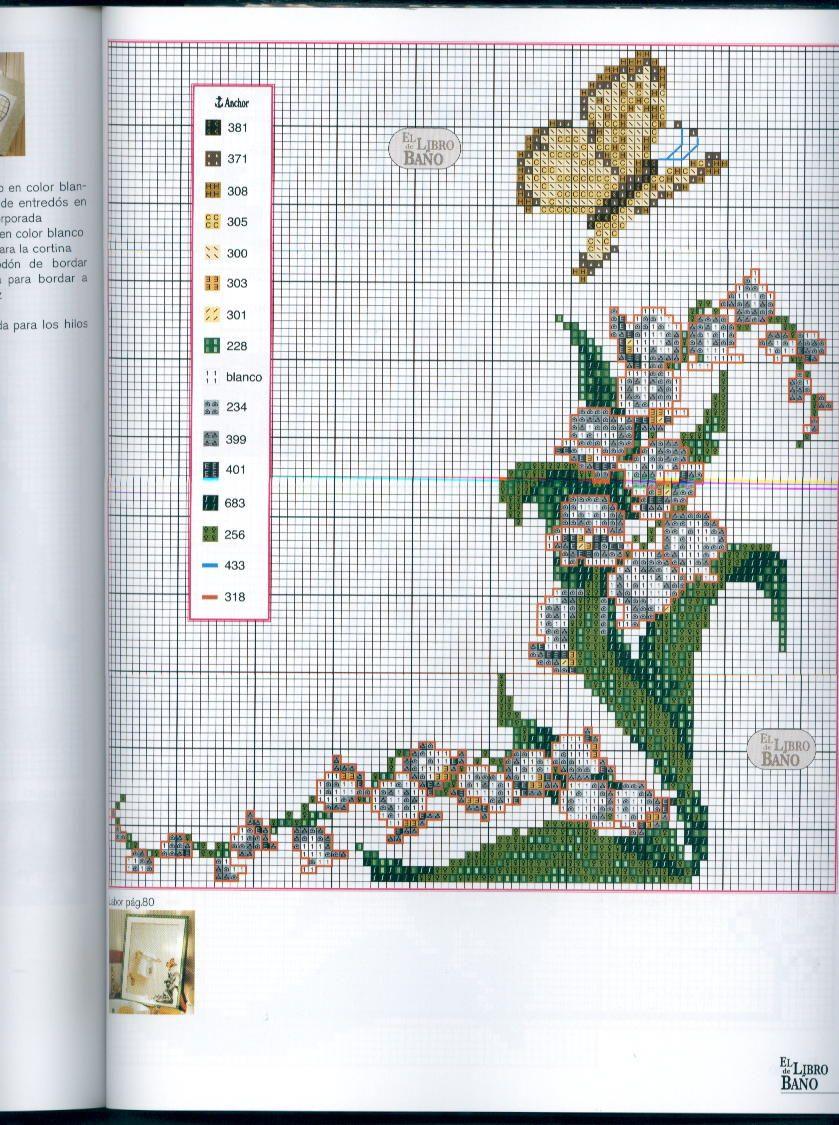 Schema punto croce bordi mughetti 3 cross stitch for Bordi punto croce