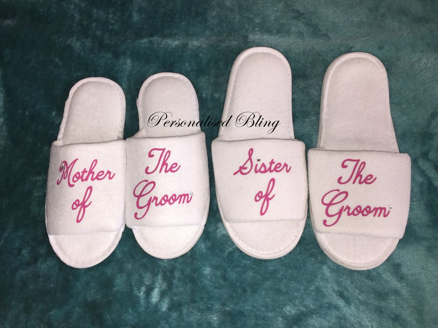 640ec30cc Bride slippers personalised slippers slip ons shose mother bachelorette  slippers sister of the groom mother of the groom slippers white by ...