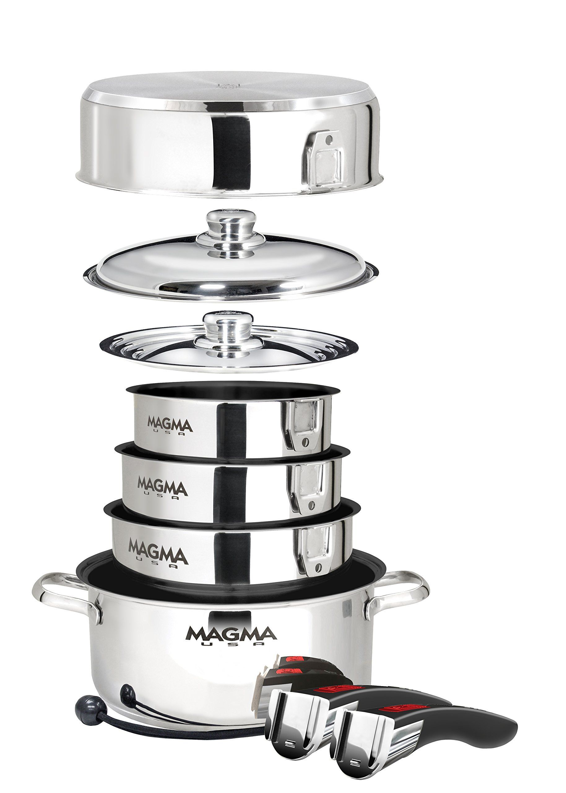 Magma Products A103662 Gourmet Nesting Stainless Steel