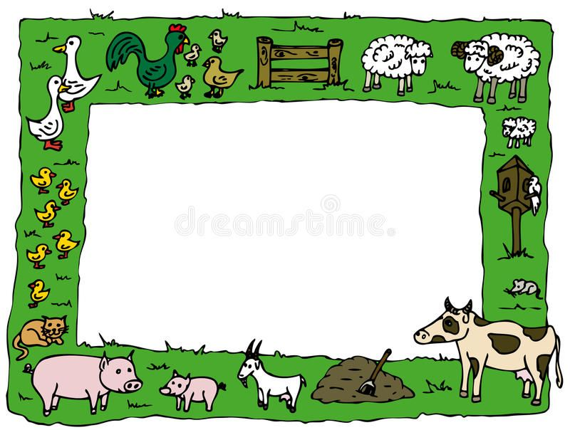 Animal Farm Frame Illustration Of Various Farm Animals Made As A Frame Sponsored Ad Paid Farm Illus Farm Animals Clip Art Borders Stock Illustration