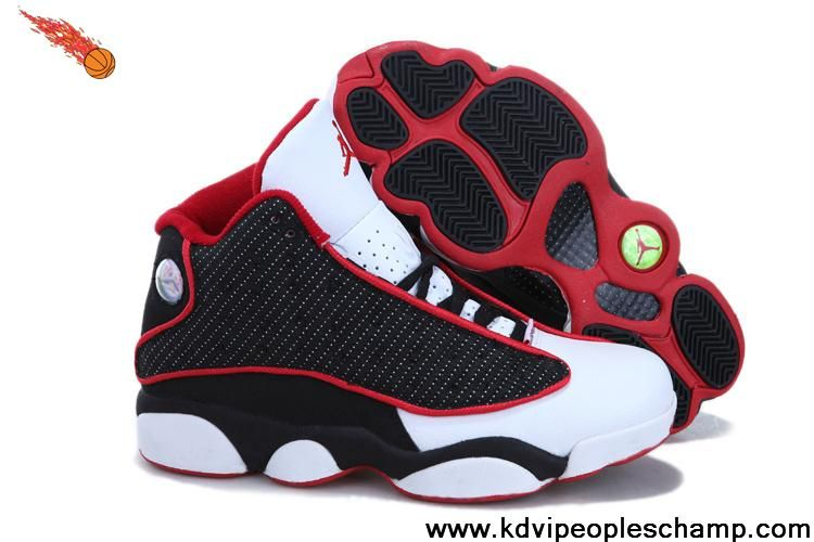 Fashion Women Air Jordan 13 (XIII) Retro RedBlackWhite