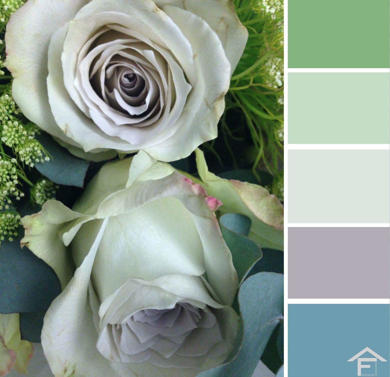 Küche interieur farbschemata palette colore fiori piante giardino tendenze stili