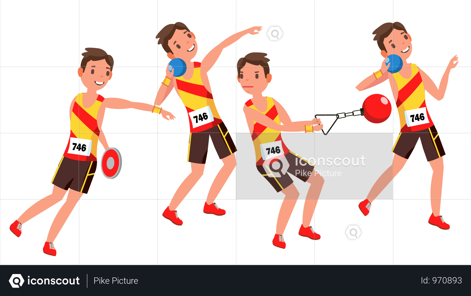 Premium Athletics Player Illustration Download In Png Vector Format Professional Tennis Players Athlete Handball Players