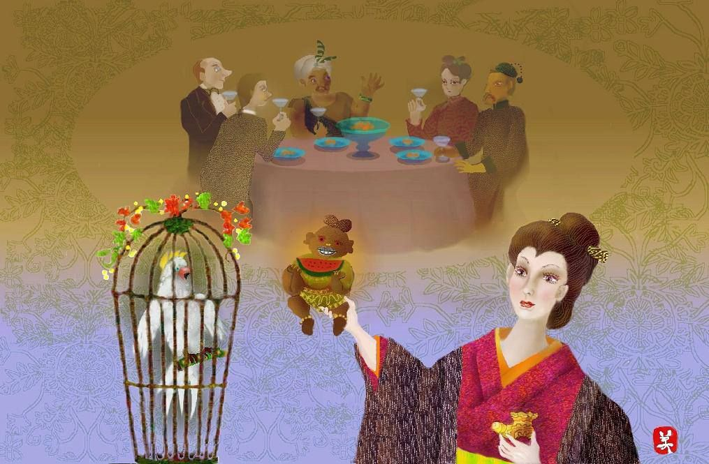 A visitor is invited to the mansion of the Chinese
