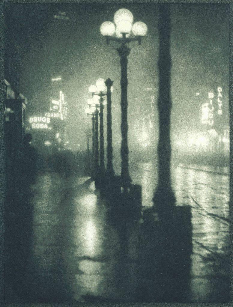 Broadway at Night by Alvin Langdon Coburn, 1910.