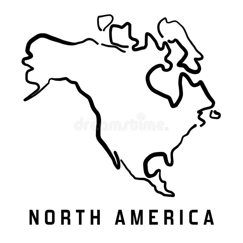 North American Continent Outline North America Outline