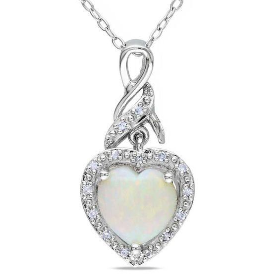 Zales Diamond Accent I Heart U Cutout Heart Pendant in Sterling Silver 8Q1EXWD