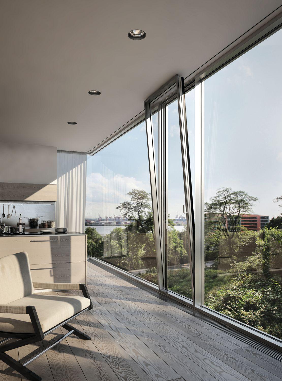 Aluminium Continuous facade system Schüco FWS 60 CV by