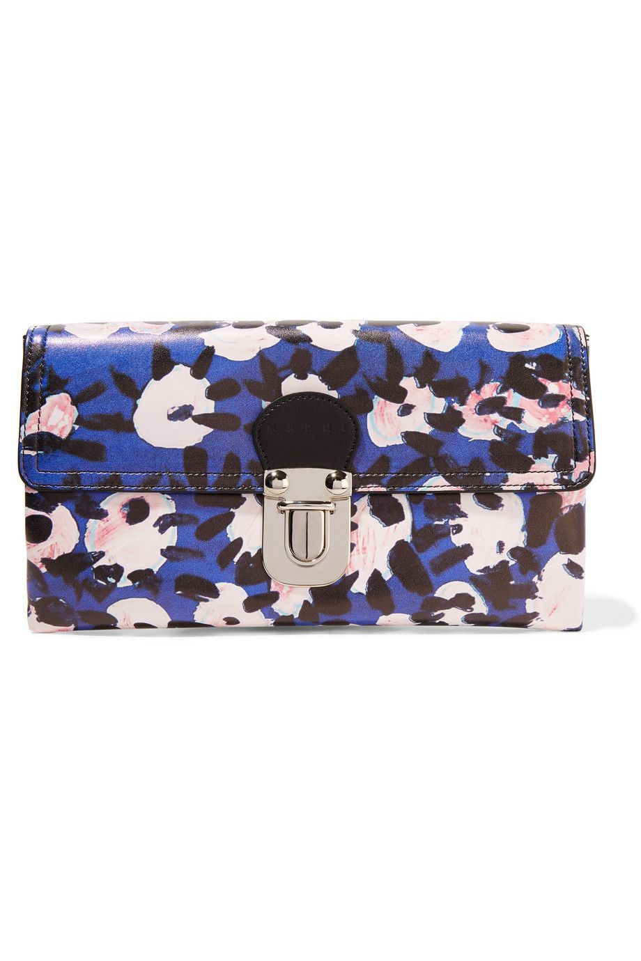 MARNI Printed Leather Clutch. #marni #bags #leather #clutch #lace #hand bags #
