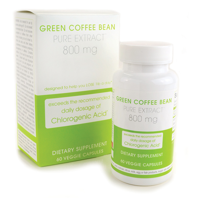 Green Coffee Bean Extract, 800 mg 60 Veg Caps