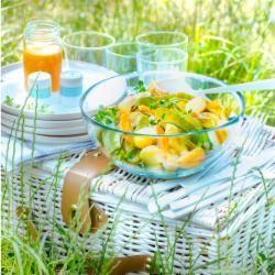 potato salad with smoked haddock