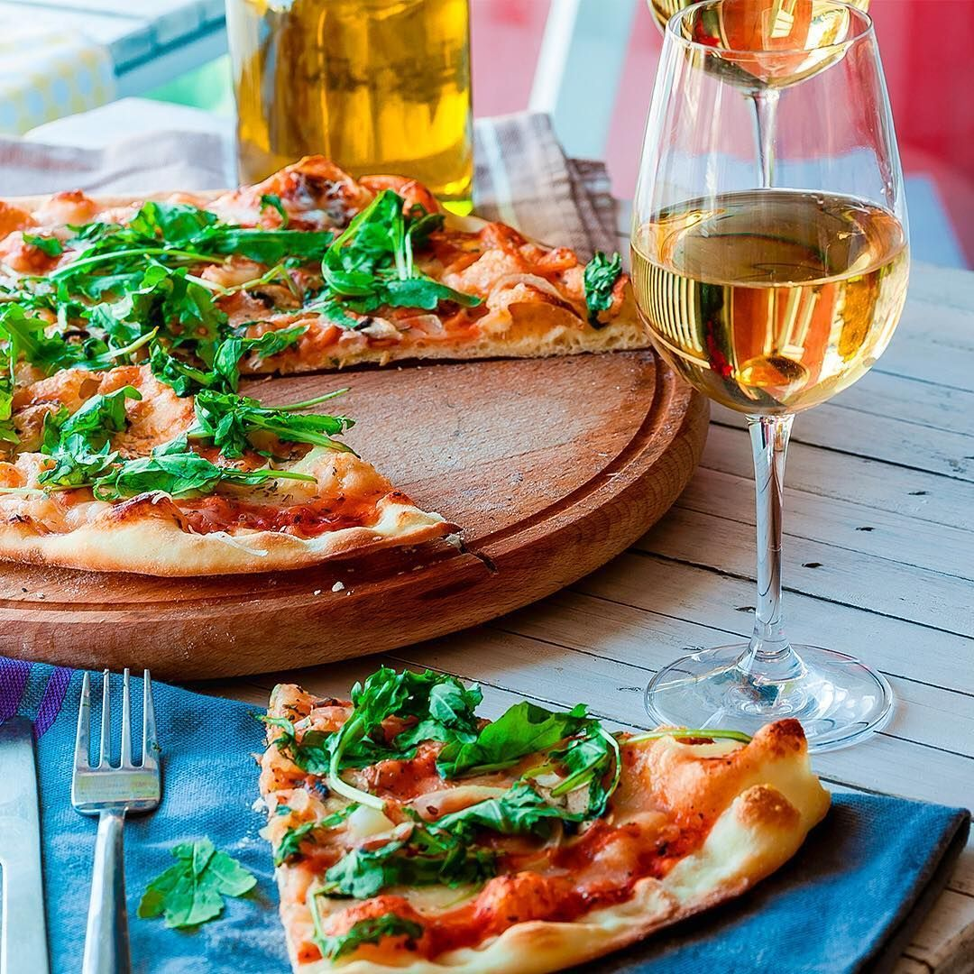What A Perfect Day For Pizza And A Glass Of Wine What Are You