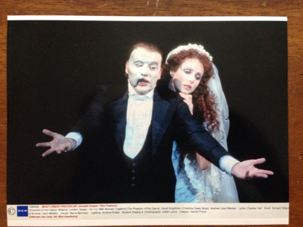 Phantom Of The Opera Promotional Photo Michael Crawford And