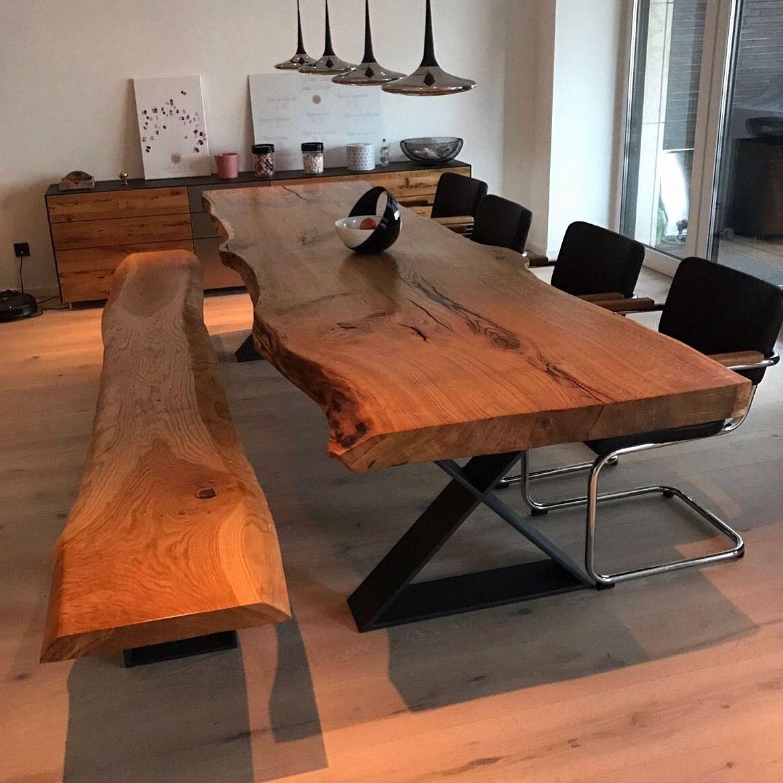 Esstisch Massivholztisch Table Dinningtable Aus Eichenholz Unverleimt Aus  Einem Stück Www.holzwerk Hamburg.de