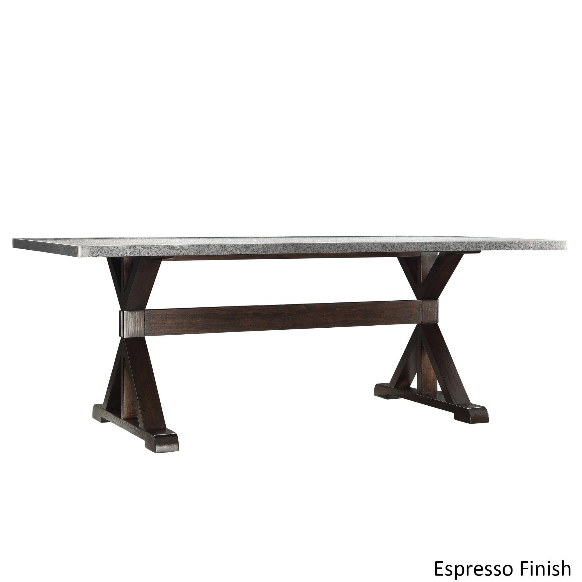Trumbull Stainless Steel Dining Table by iNSPIRE