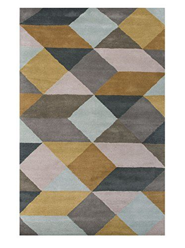 Jaipur Rugs Luli Sanchez Hand Tufted Geometric Pattern Rug Sea Mist Green Clic