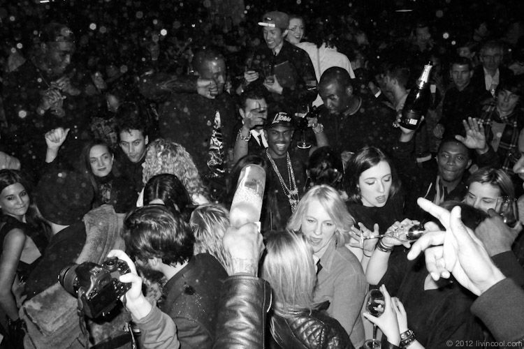 kanye west f/w 12 fashion show after party