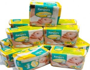 Pampers Swaddlers Newborn  Pampers Swaddlers Newborn Diapers are the Number 1 choice for hospitals and have a blanket of superior softness that gives babies the feeling of comfort and security.They have amazing features such as a color-changing wetness indicator. #babygifts #babyshower #babygear #babyseats #diapers #nursery #strollers