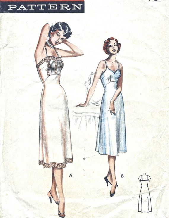 Image result for sketches of vintage full slips