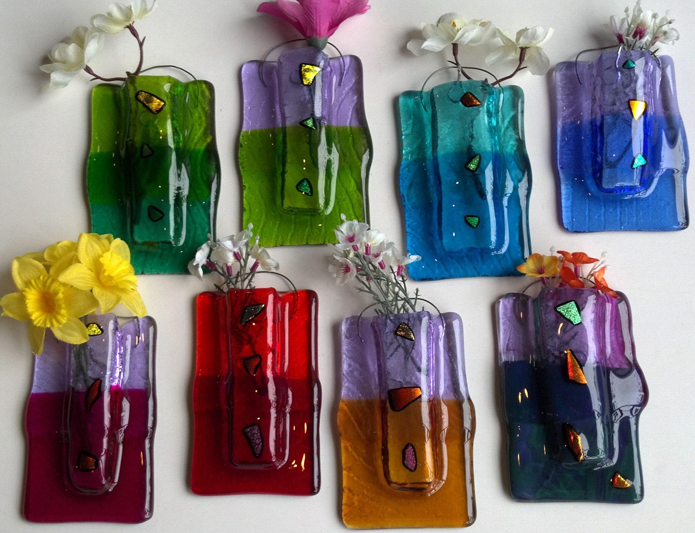 Luminosity glass fused glass pocket wall vase glass art luminosity glass fused glass pocket wall vase floridaeventfo Gallery
