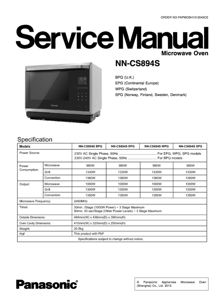 panasonic nn cs894s service manual panasonic service manuals rh pinterest com panasonic viera tc-p50s30 service manual panasonic tc-p50s30 repair manual