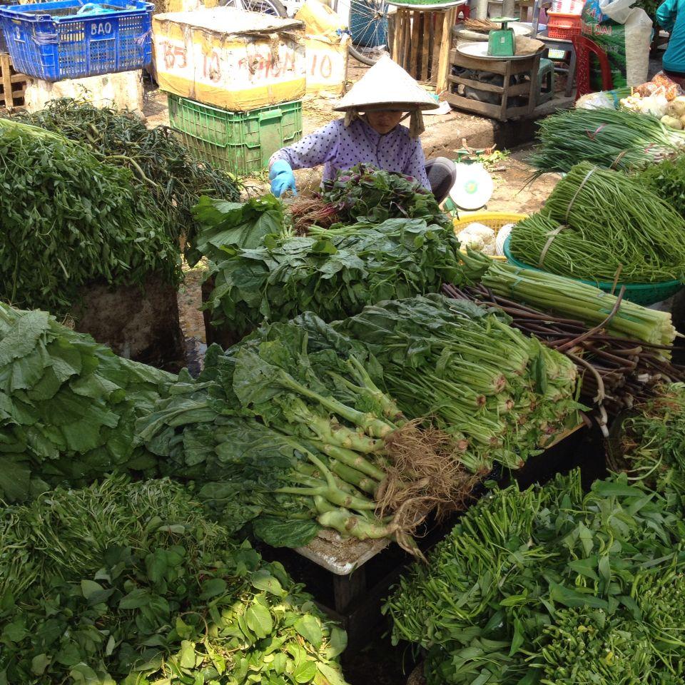 At the market in Ho Chi Minh, Virtnam