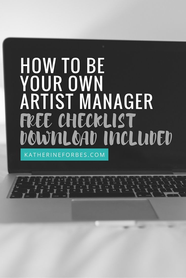 Subscribe to the free artist management checklists!