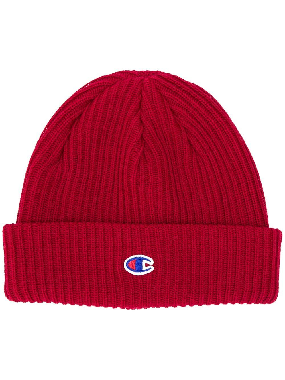 b02d8ea2806 CHAMPION CHAMPION CONTRAST LOGO BEANIE - RED.  champion