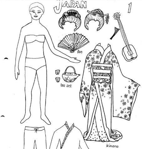 traditional garb printable paper dolls printable paper dolls and