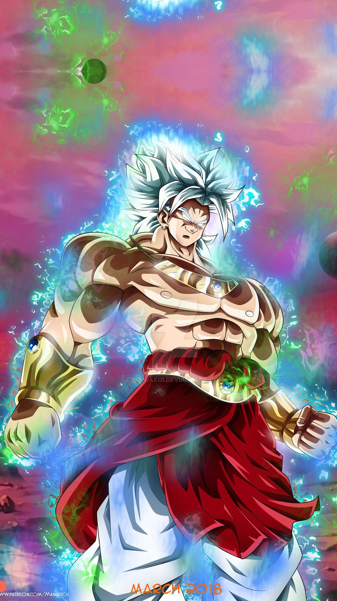 Dragon ball - Broly ultra instinct [1150x2050] + live wallpaper in comments! | Beautiful ...