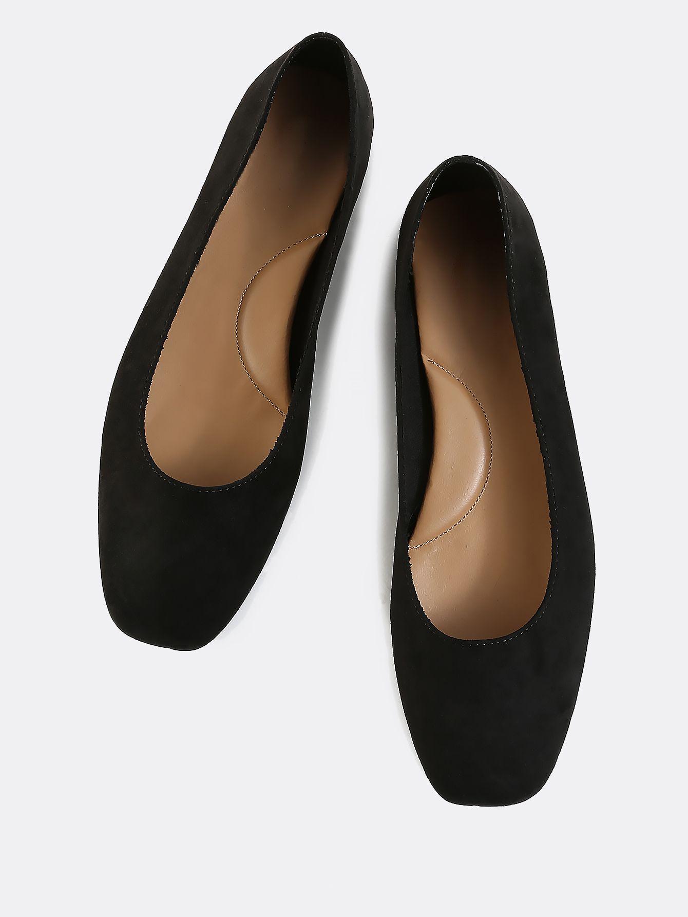 Shop Classic Faux Suede Ballet Flats